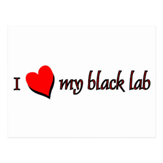 Amo mi Labrador negro Postales