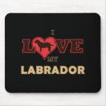 Amo mi Labrador Tapete De Ratón