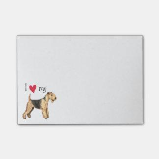Amo mi Lakeland Terrier Notas Post-it®