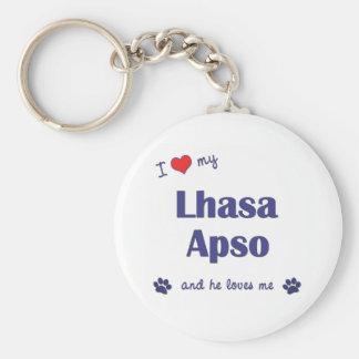 Amo mi Lasa Apso (el perro masculino) Llavero