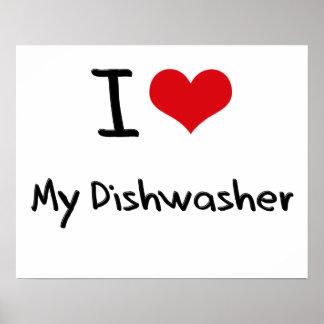 Amo mi lavaplatos poster