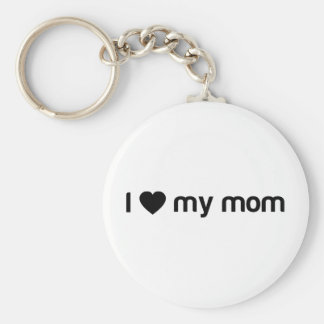 Amo mi lema de la mamá llavero redondo tipo pin
