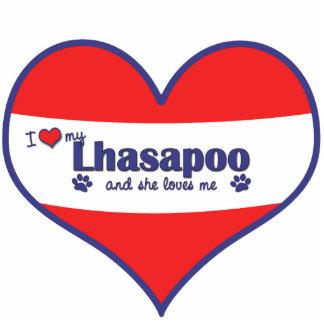 Amo mi Lhasapoo (el perro femenino) Escultura Fotográfica