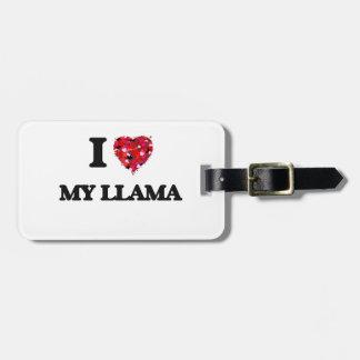 Amo mi llama etiquetas de equipaje