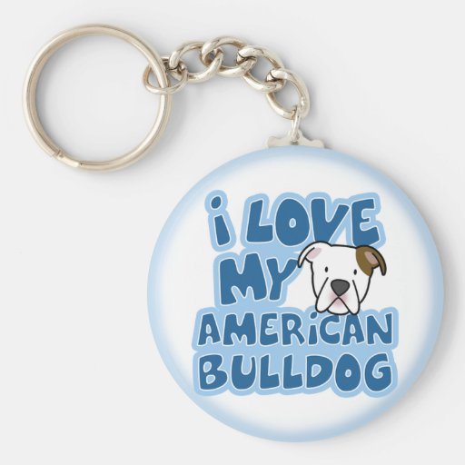 Amo mi llavero americano del dogo
