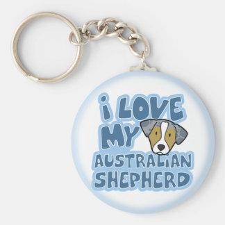 Amo mi llavero australiano del pastor