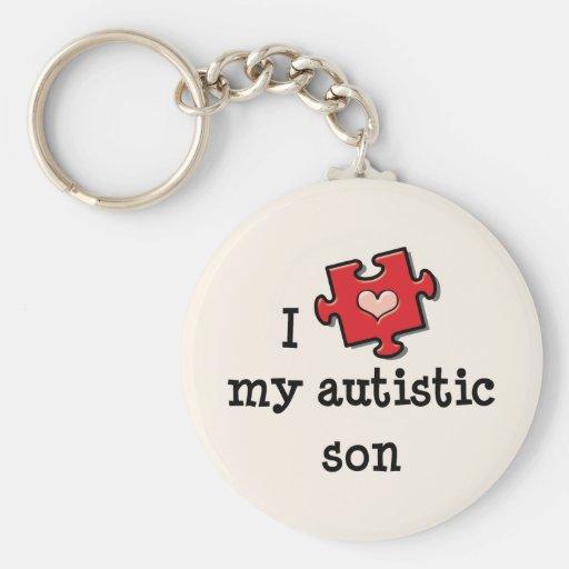 Amo mi llavero autístico del hijo