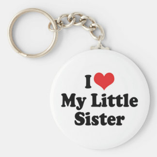 Amo mi llavero de la pequeña hermana