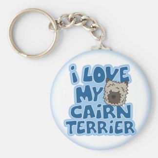 Amo mi llavero de Terrier de mojón