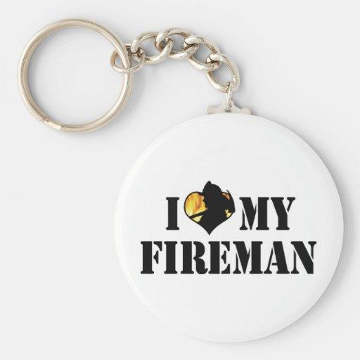 Amo mi llavero del bombero