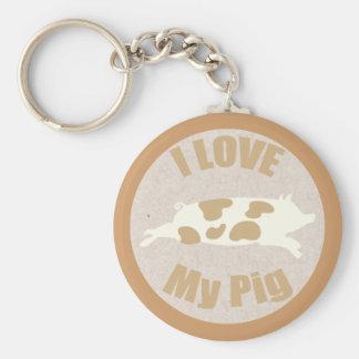 Amo mi llavero del cerdo