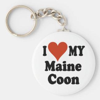Amo mi llavero del Coon de Maine