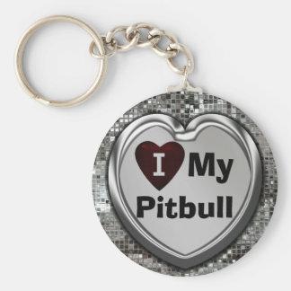 Amo mi llavero del corazón de Pitbull