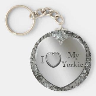 Amo mi llavero del corazón de Yorkie