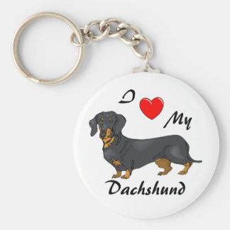 Amo mi llavero del Dachshund