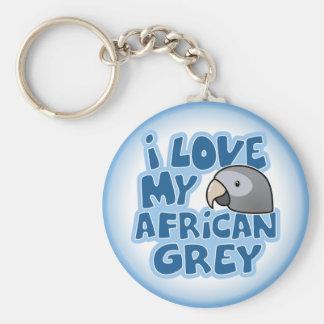 Amo mi llavero del gris africano de Timneh