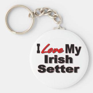Amo mi llavero del perro de Irish Setter