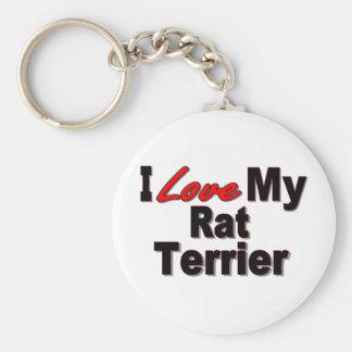 Amo mi llavero del perro de Terrier de rata