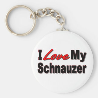 Amo mi llavero del perro del Schnauzer