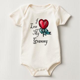Amo mi Lollipop del corazón de Grammy Body Para Bebé