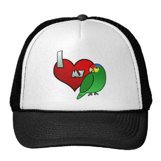 Amo mi Lored rojo el Amazonas Gorros