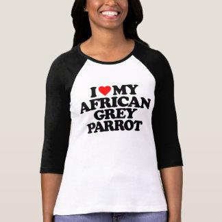 AMO MI LORO DEL GRIS AFRICANO CAMISAS