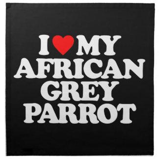 AMO MI LORO DEL GRIS AFRICANO SERVILLETAS