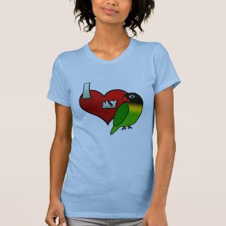 Amo mi Lovebird enmascarado negro Camiseta