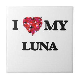Amo MI Luna Azulejo Cuadrado Pequeño
