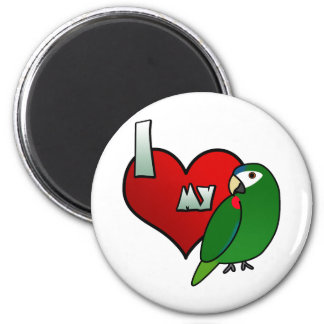 Amo mi Macaw noble Imán Redondo 5 Cm
