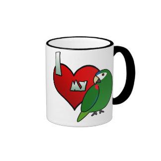 Amo mi Macaw noble Taza A Dos Colores