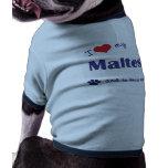 Amo mi maltés (el perro masculino) ropa de perros