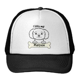 Amo mi maltés gorras de camionero
