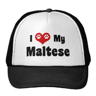Amo mi maltés gorros bordados