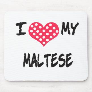 Amo mi maltés tapete de ratón