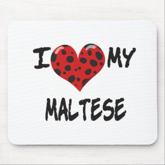 Amo mi maltés alfombrilla de raton