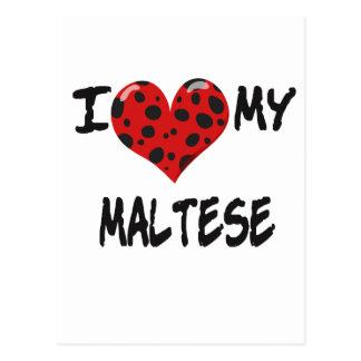 Amo mi maltés postales