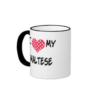 Amo mi maltés taza a dos colores