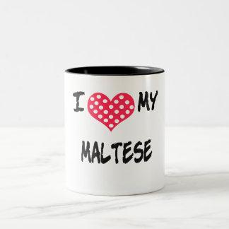 Amo mi maltés taza dos tonos