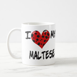 Amo mi maltés taza básica blanca