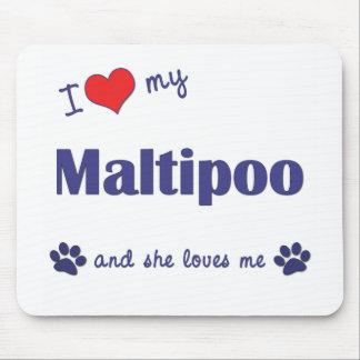 Amo mi Maltipoo (el perro femenino) Alfombrilla De Raton