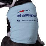 Amo mi Maltipoo (el perro masculino) Camisa De Perrito