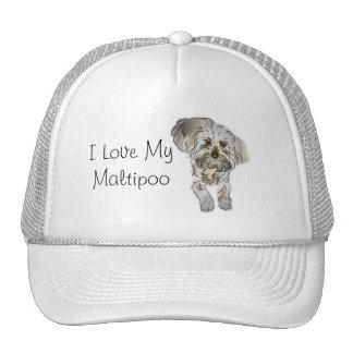 Amo mi Maltipoo Gorra