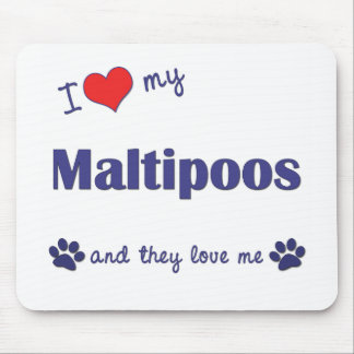 Amo mi Maltipoos (los perros múltiples) Tapetes De Raton