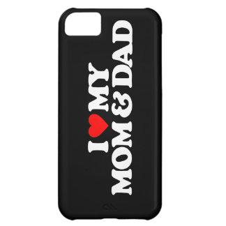 AMO MI MAMÁ Y PAPÁ FUNDA PARA iPhone 5C