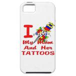 Amo mi mamá y sus tatuajes iPhone 5 Case-Mate funda