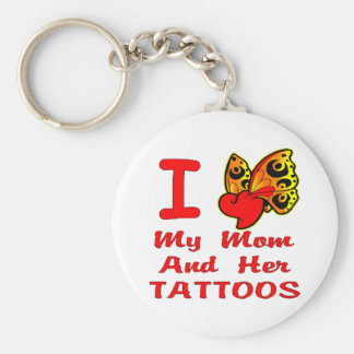 Amo mi mamá y sus tatuajes llavero personalizado