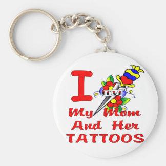 Amo mi mamá y sus tatuajes llaveros