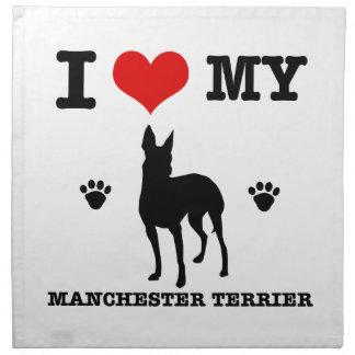 Amo mi Manchester Terrier Servilleta