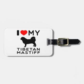 Amo mi mastín tibetano etiqueta para equipaje